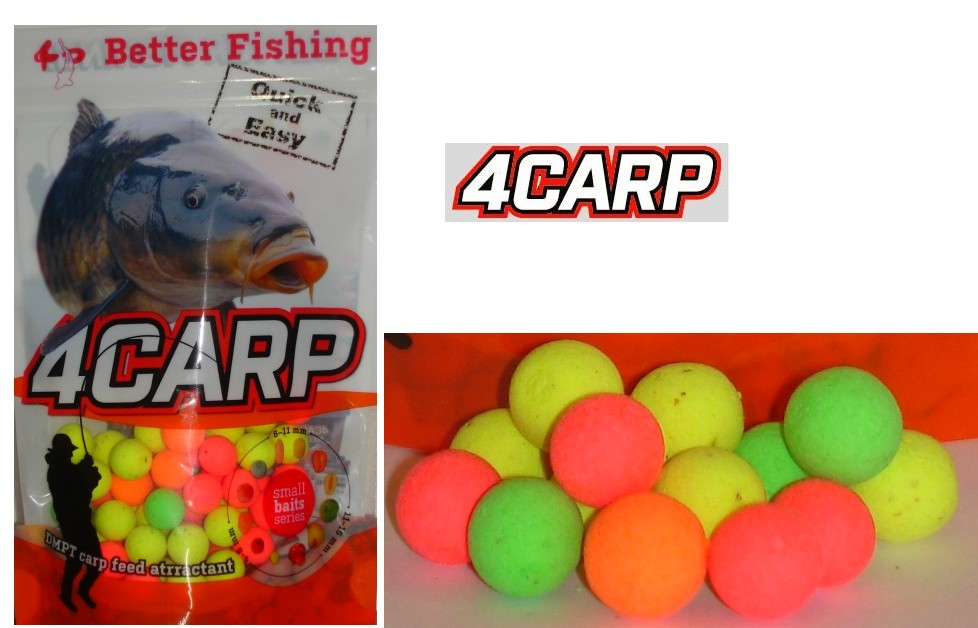 Fluoro pop up boilies 10mm 4Carp