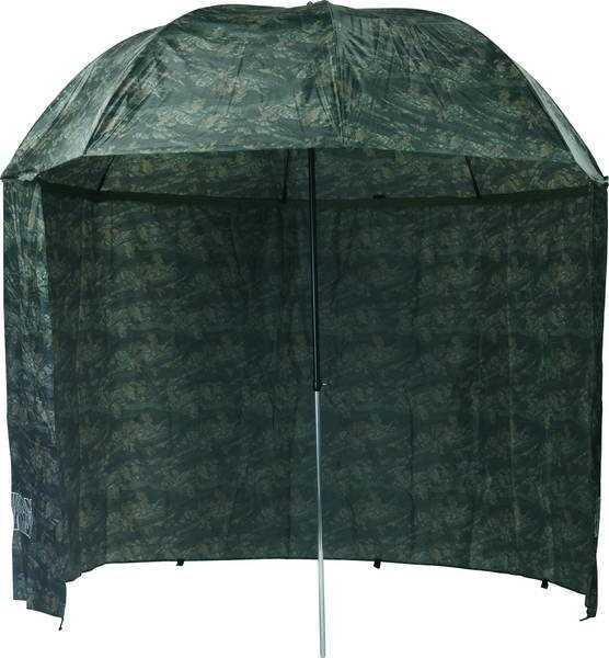MIVARDI deštník s bočnicemi PVC Camou