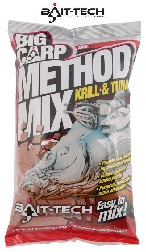 Bait-Tech Krmítková směs Big Carp Method Mix Krill & Tuna 2kg