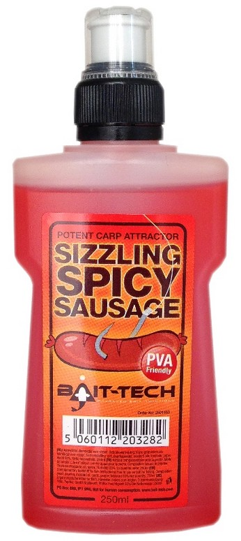 Bait-Tech ekutá esence Liquid Sizzling Spicy Sausage 250ml