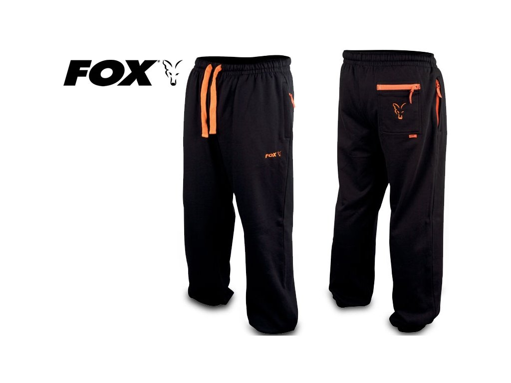 Tepláky FOX Black & Orange Joggers