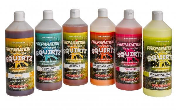 Starbaits Booster Prep x Squirtz 1L - ROBIN RED