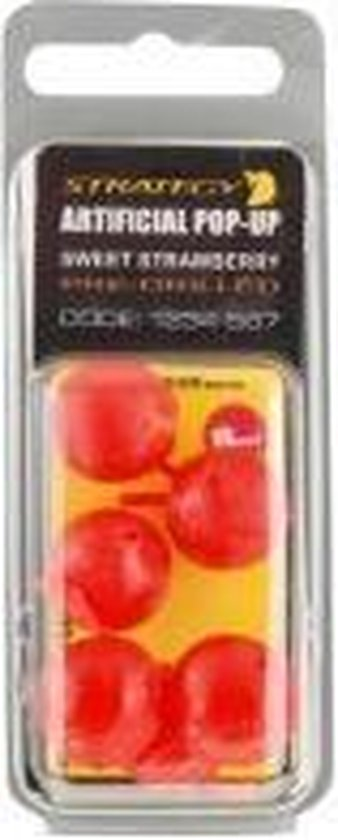 Strategy Artificial Pop-Up Boilie - Sweet Strawberry - Pre-drilled - 8 Stuks - Rood