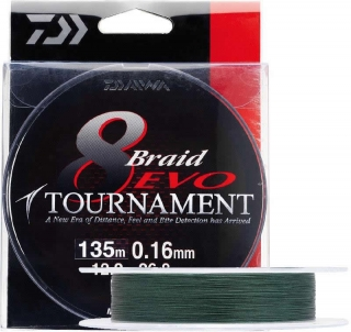 Daiwa Tournament 8 Braid Evo 0.16mm/135m- Dark Green