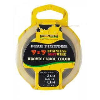 Spro Pike Fighter 7x7 13lb/10m Brown Camou Color
