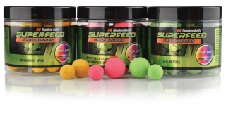 TANDEM BAITS Super Feed Fluo Pop-Up 14 a 18mm/200ml - LOSOS KAVIAR