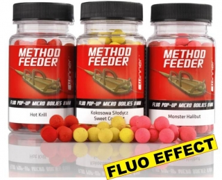 TANDEM BAITS WINNER Method Feeder Fluo Pop Up Micro Boilies JAHODA - 8mm/35g