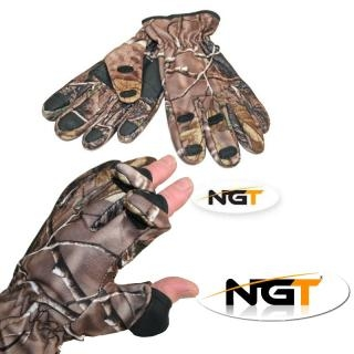 NGT Rukavice Camo Neoprene Gloves