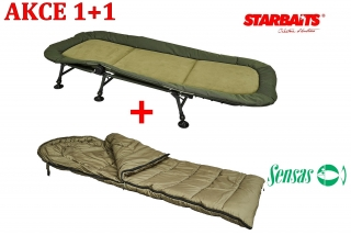 Starbaits lehátko Bed Chair 6 Feet + spacák Session New Zdarma